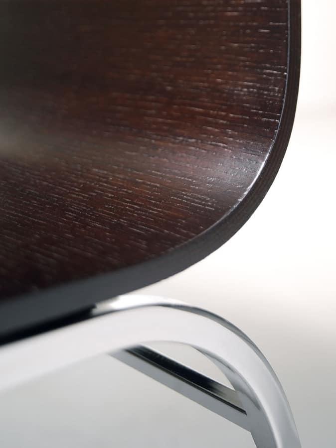 LIRA Sgabello, Sgabello con struttura in metallo, per cucine e bar
