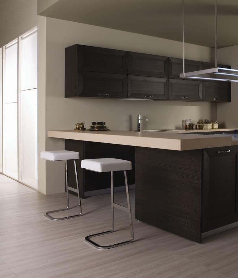 Mi76 sgabello moderno per la casa sgabello con seduta for Sgabelli in pelle per cucina