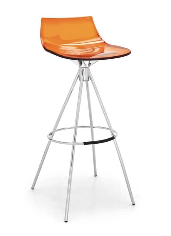 Sgabelli In Plastica Trasparente.Sgabello Moderno Con Seduta In Plastica Trasparente Idfdesign