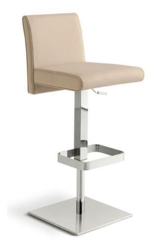 Sgabello regolabile in altezza con seduta e schienale imbottiti e