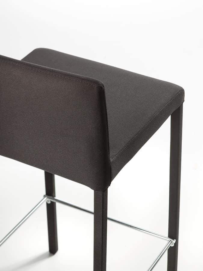 Treviso sgabello basso, Sgabello rivestito in pelle adatto per arredare ambienti moderni