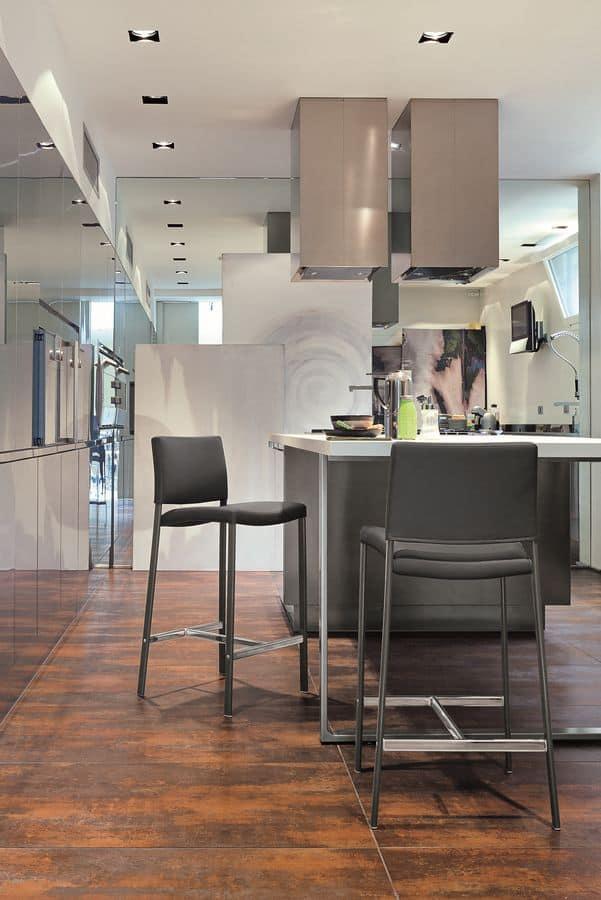 ZARA SG171, Sgabello imbottito moderno adatto per bar e cucina