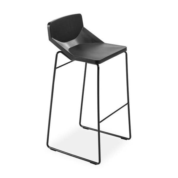 Formula80 stool h75 soft-poly, Sgabello con imbottitura in poliuretano morbido, per cucina bar e ristorante
