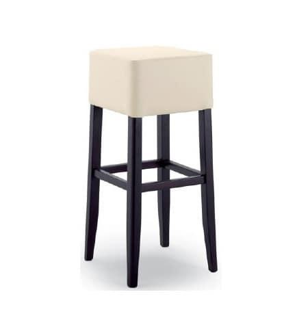 299, Sgabello con seduta imbottita, senza schienale
