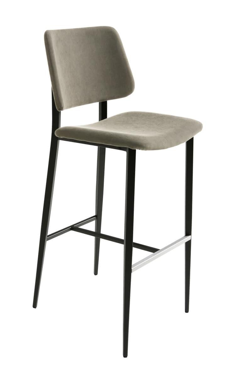 Joe sg sgabello ad altezza fissa con seduta e schienale - Sgabelli moderni per cucina ...