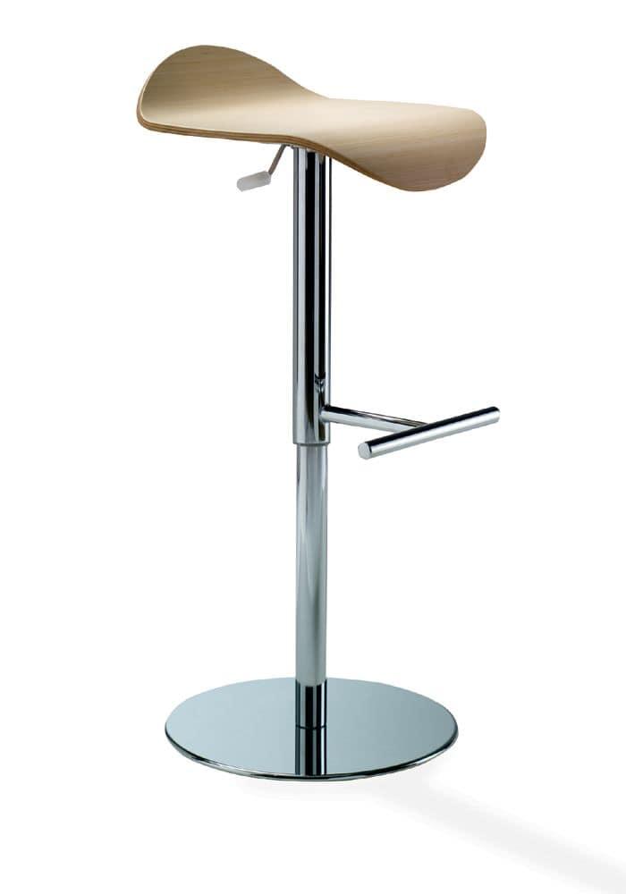 Manta smgpcrl, Sgabello regolabile in altezza, design moderno, seduta in mult...