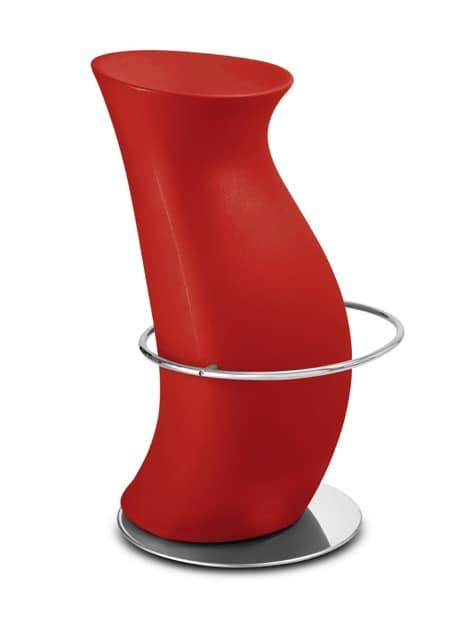 Hula Op, Sgabello moderno, in polietilene, per locali alla moda