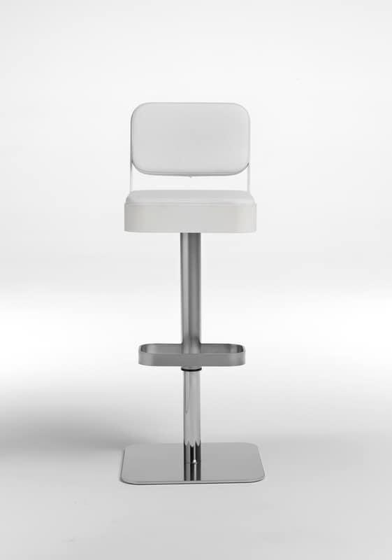 Belt plus, Sgabello girevole, comoda seduta imbottita, regolabile in altezza