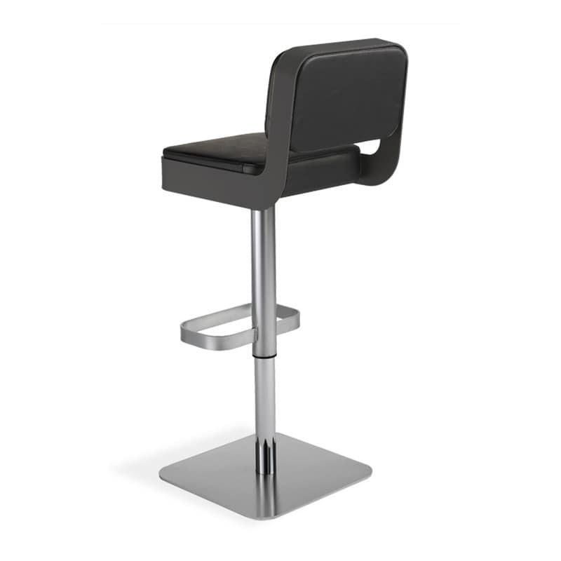 Sgabello girevole comoda seduta imbottita regolabile in for Sgabelli regolabili in altezza