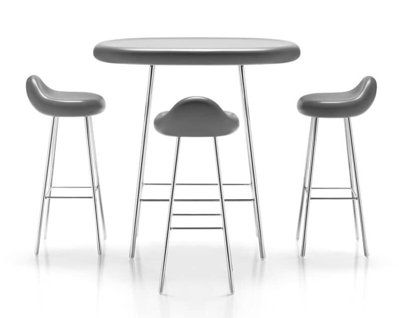 Sgabello regolabile o fisso per contract e bar idfdesign for Sgabelli cucina regolabili