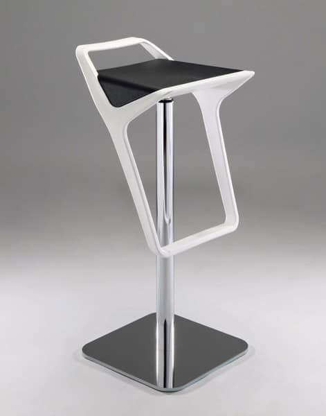 Sgabello moderno regolabile seduta in tecnopolimero for Sgabelli cucina regolabili