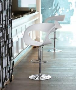 Raff SG, Sgabello design con altezza regolabile, per Cucine e bar