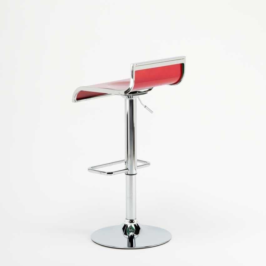 Sgabello design alto bar cucina Florida – SGA041FLO, Sgabello regolabile, girevole 360°, con poggiapiedi