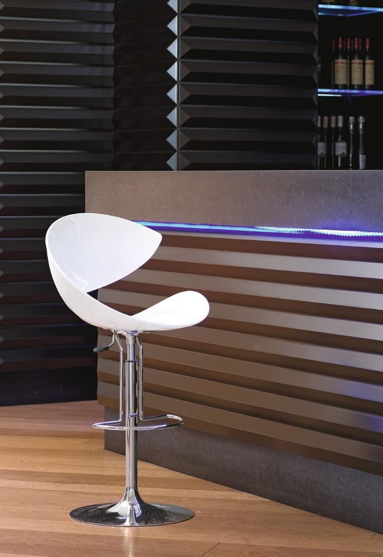Sgabello design girevole con poggiapiedi per cucina for Sgabelli di design