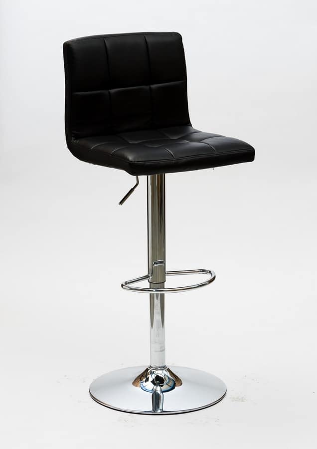 Art. 574 Jazz, Sgabello regolabile in altezza, seduta in ecopelle