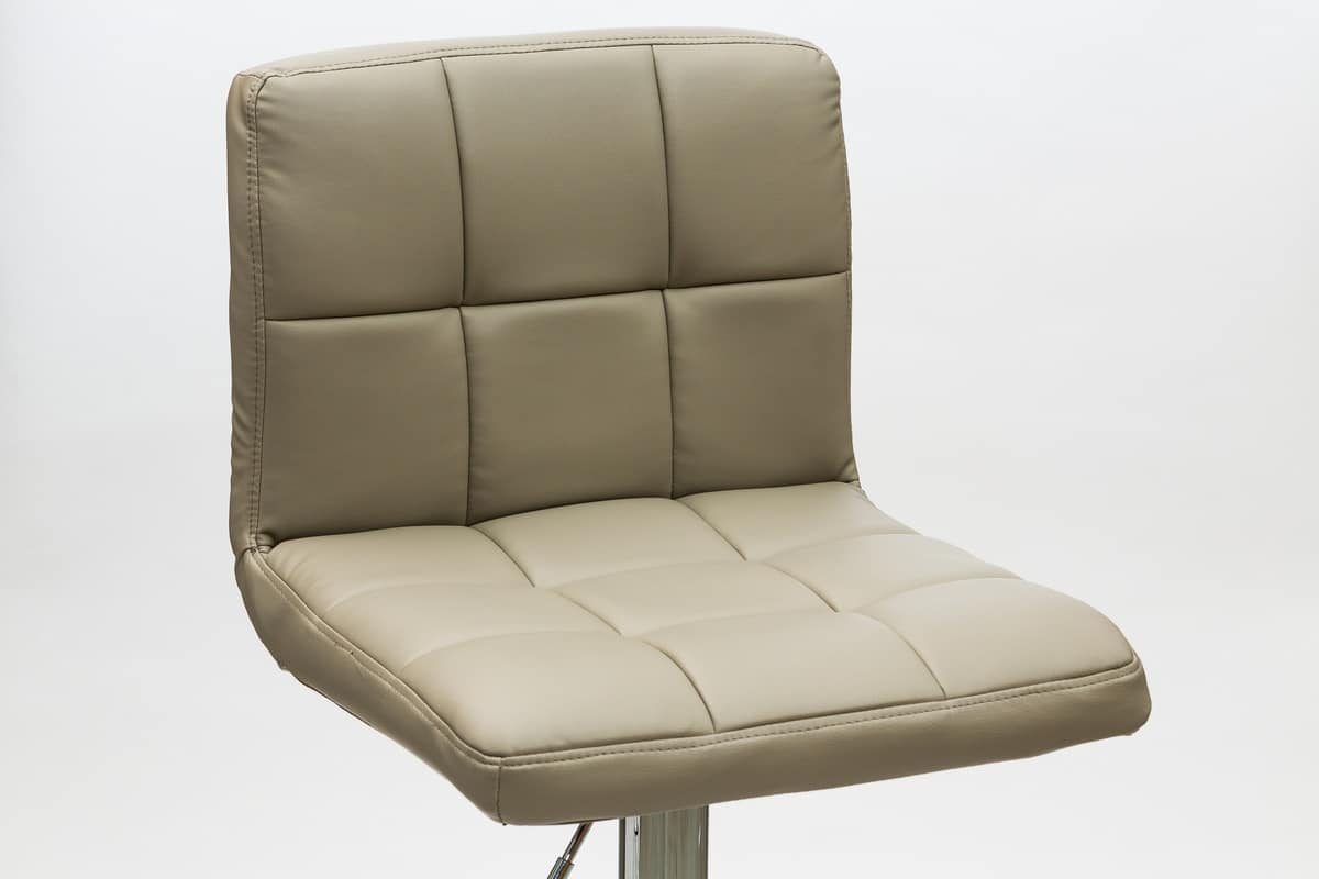 Sgabello regolabile in altezza seduta in ecopelle idfdesign