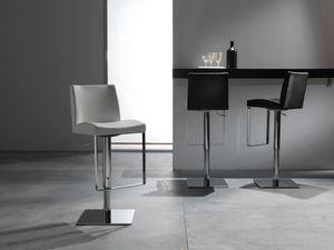 Art. 575 Maxim, Elegante sgabello con seduta in pelle, regolabile in altezza