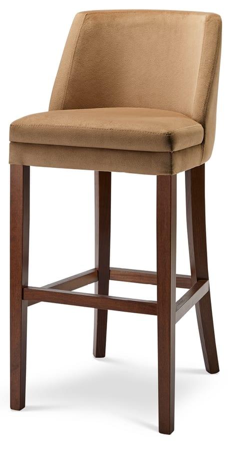 MILANO SG, Sgabello in legno con seduta imbottita