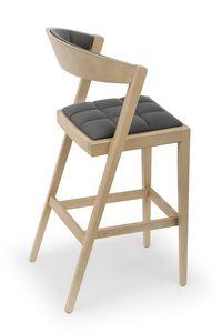 Zanna UPH stool, Elegante sgabello in legno