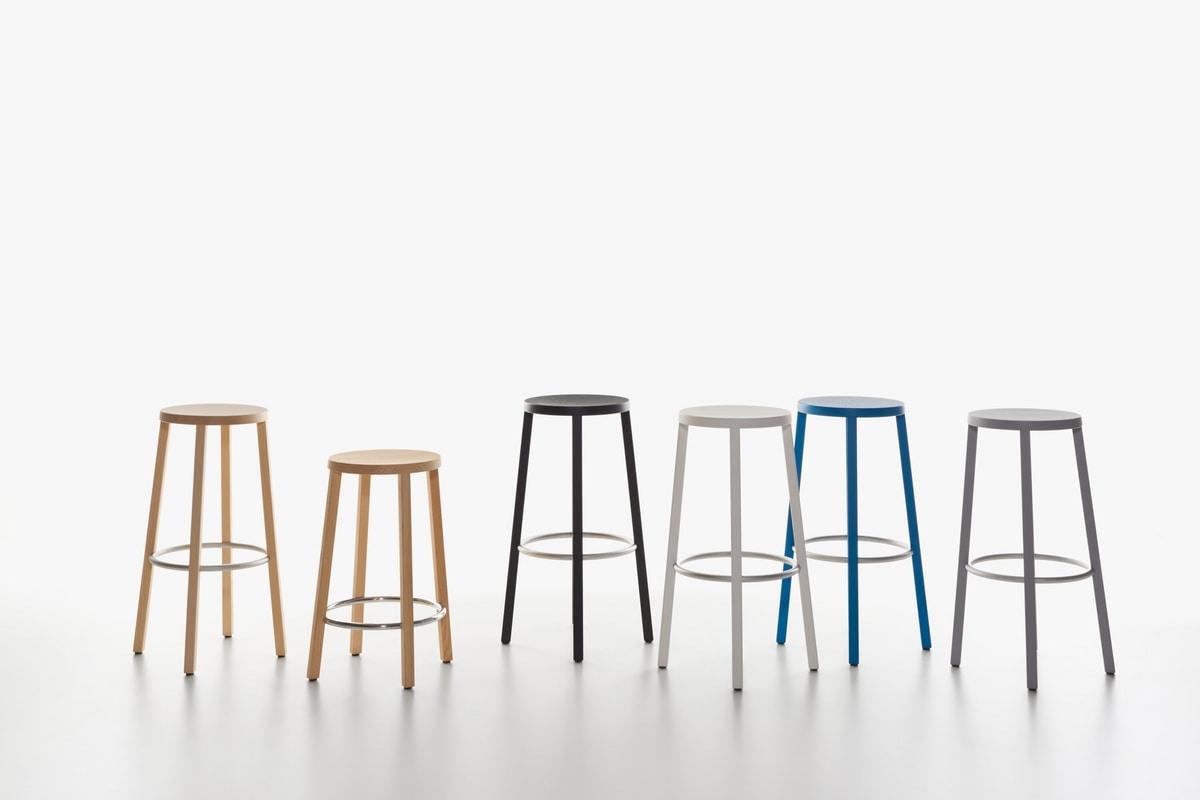 sgabello essenziale in legno alto design per cucina. Black Bedroom Furniture Sets. Home Design Ideas