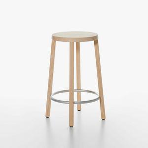 Blocco mod. 8500-00/60, Sgabello essenziale in legno, alto design, per Cucina