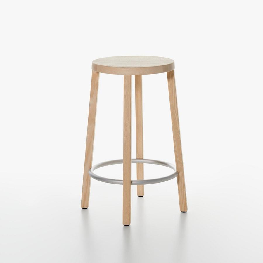 sgabello essenziale in legno alto design per cucina