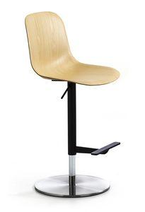 M�ni Wood ST-ADJ, Sgabello girevole in seduta in legno
