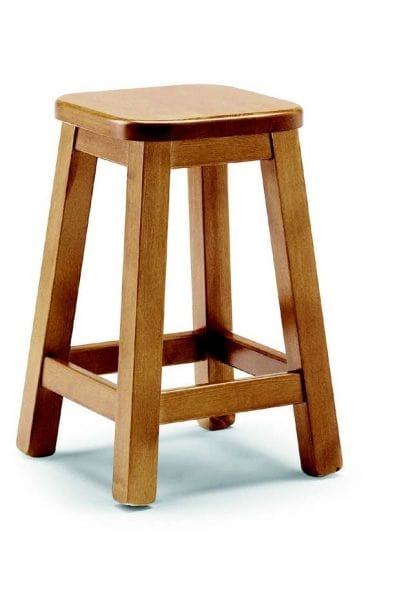 109 Quadro, Sgabello in legno senza schienale