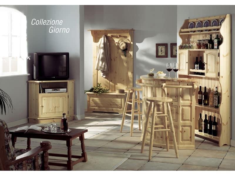 Credenza Rustica In Legno : Credenza in legno per la zona giorno stile rustico idfdesign