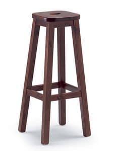 Pedro A B, Sgabello robusto in legno di pino, per osterie e case rustiche