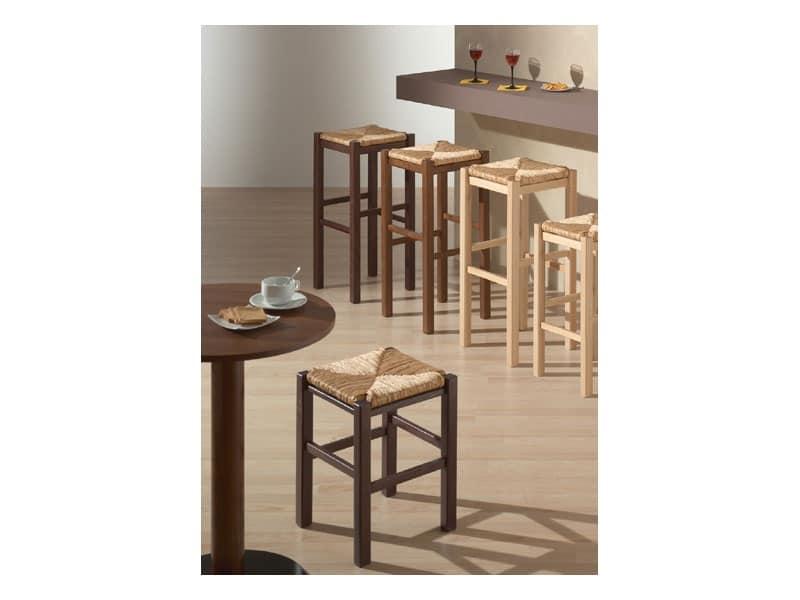 Sgabelli sedile legno bar idfdesign for Sgabelli bar legno