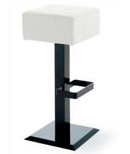 CG 89724 SG, Sgabello in metallo con base quadrata nera