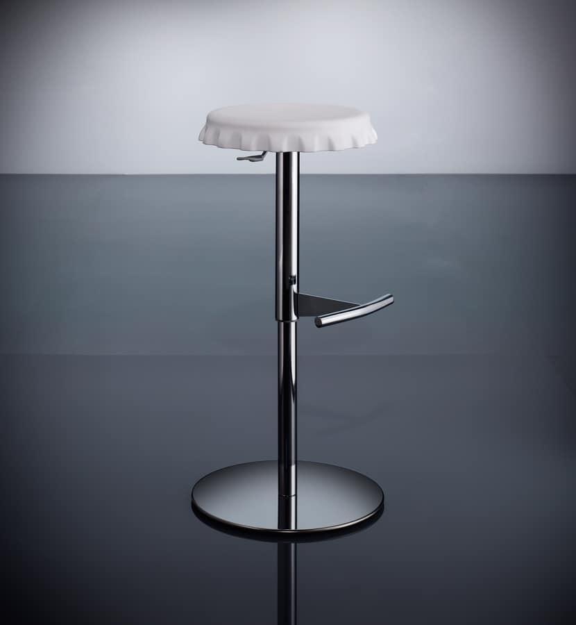 ART. 244/B CAP, Sgabello con seduta tonda, alzata a gas, per ristoranti