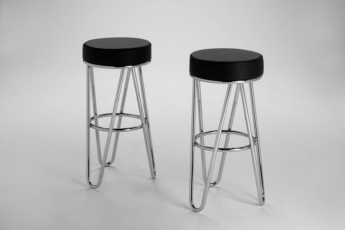 Sgabello in metallo per la cucina sgabello con seduta for Sgabelli bar cucina
