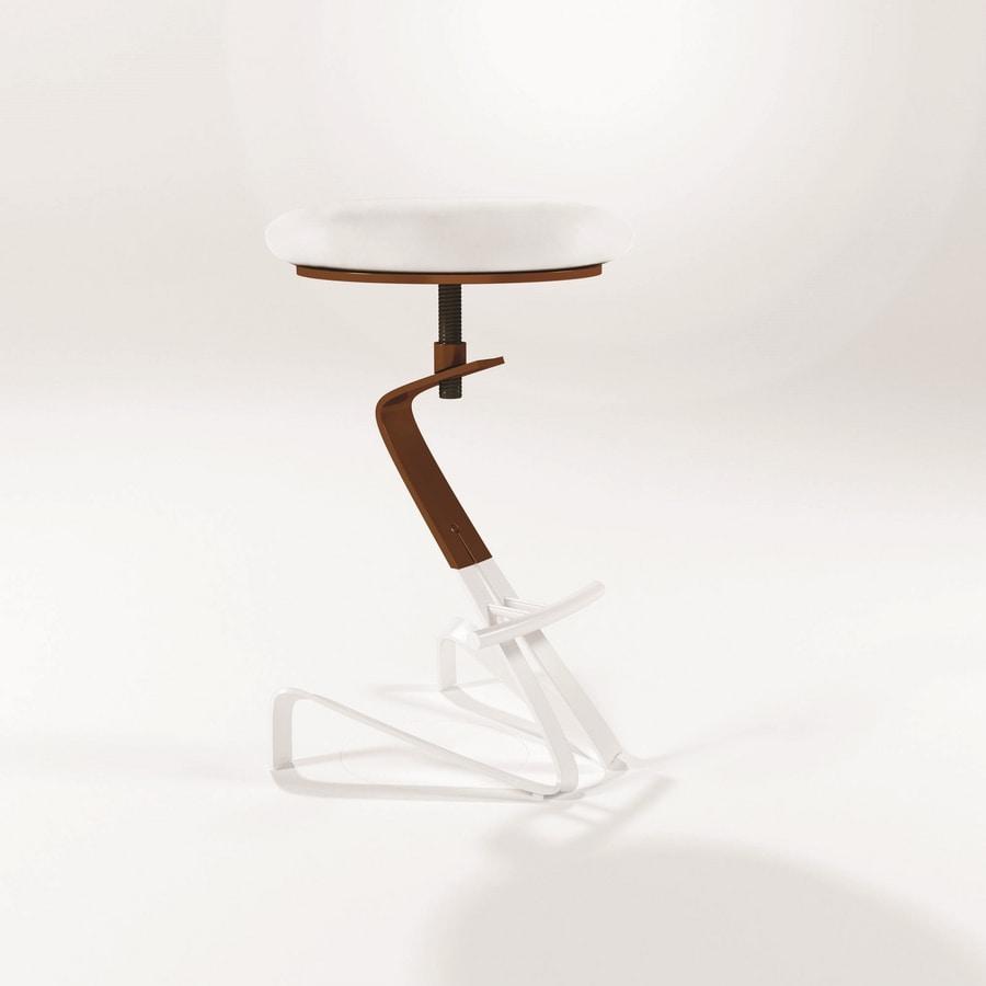 Sgabello Anni 70 Tessuto Joe Midj : Herbie sgabelli moderni con seduta rotonda e altezza