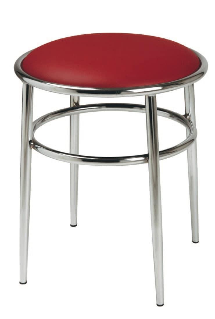 SG 028 / H, Sgabello alto con seduta rotonda imbottita, per pub
