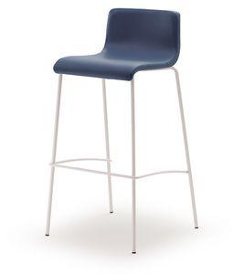 SG 353, Sgabello fisso con seduta in legno