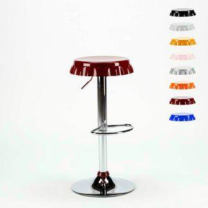 Sgabello a forma di Tappo di Bottiglia Bar e Cucina DALLAS Design - SGA800DAL, Sgabello a forma di tappo con poggiapiedi