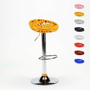 Sgabello alto da bar cucina con penisola MINNEAPOLIS Design Moderno - SGA800MIN, Sgabello con seduta ergonomica a nido