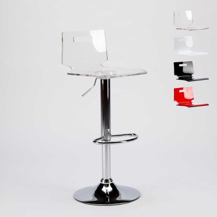 Sgabello con scocca in plastica trasparente | IDFdesign
