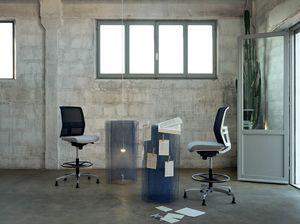 Omnia White Stool 02, Sgabello regolabile per ufficio