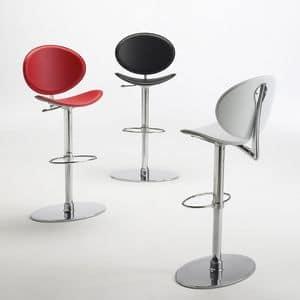 Immagine di tamago leather stool, sgabello dalle linee moderne