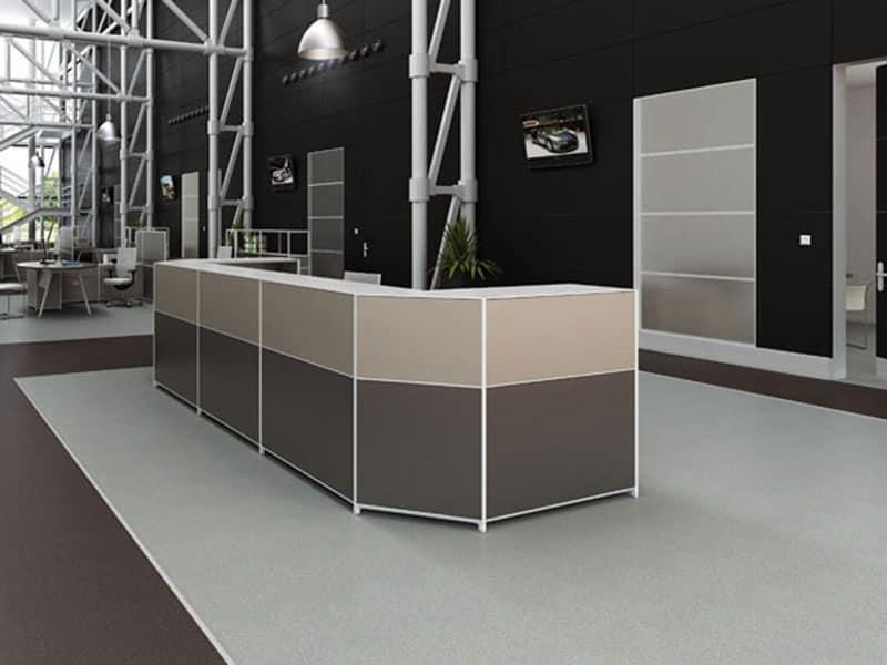 Sistema ufficio postazione operativa idfdesign for Mobile reception ufficio