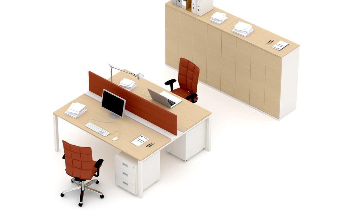 Scrivania Ufficio Angolo : Postazione ufficio angolo computer idfdesign