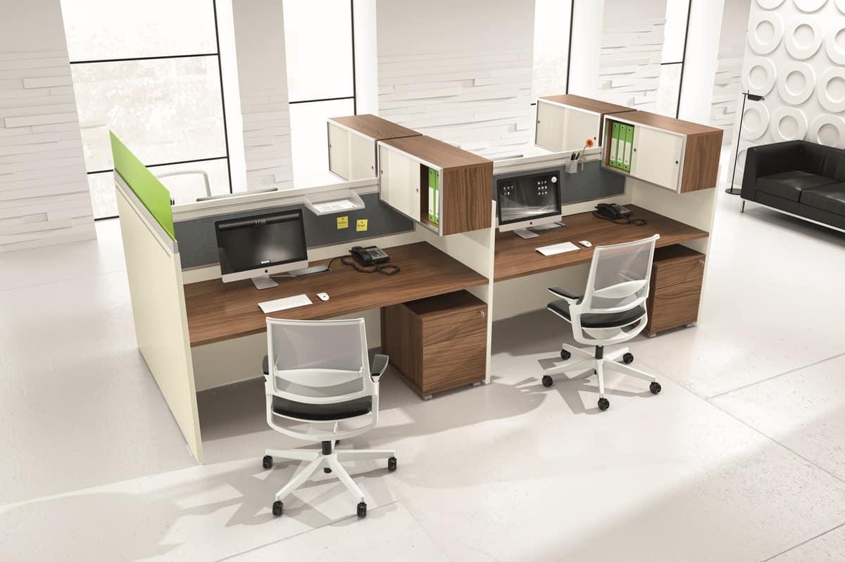 Composizione di mobili per ufficio contenitori con ante - Mobili di ufficio ...