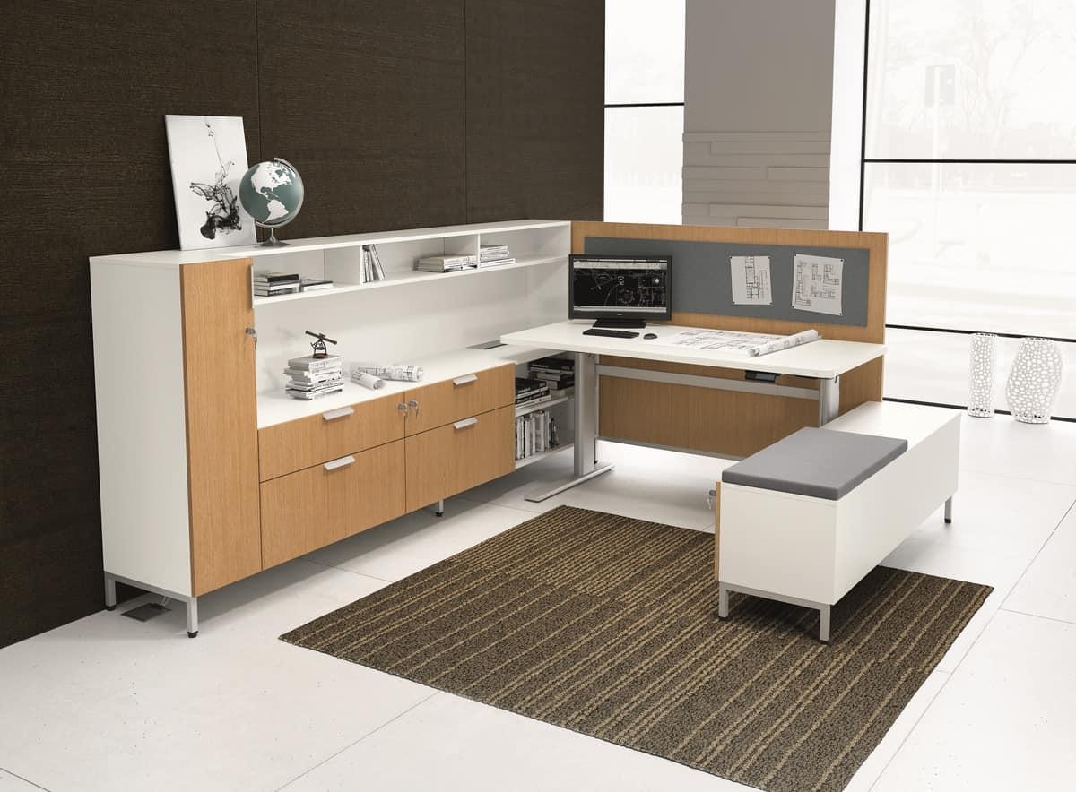 Mobili componibile per ufficio con tavoli e armadi for Aziende mobili per ufficio