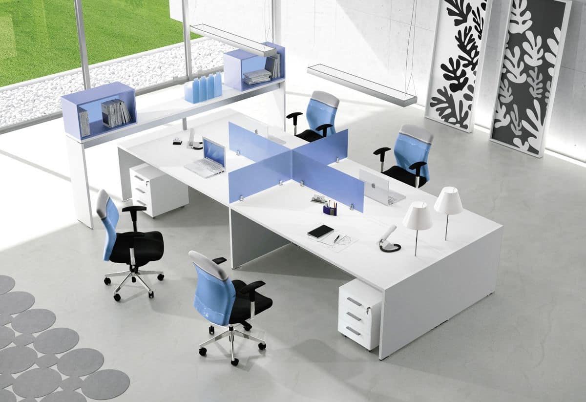 Postazioni operative per uffici moderni idfdesign for Scrivanie operative ufficio