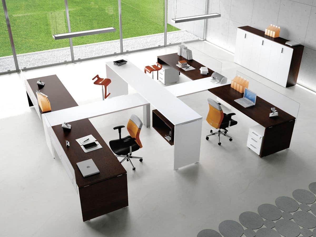 Postazioni modulari per uffici operativi in stile moderno for Uffici operativi
