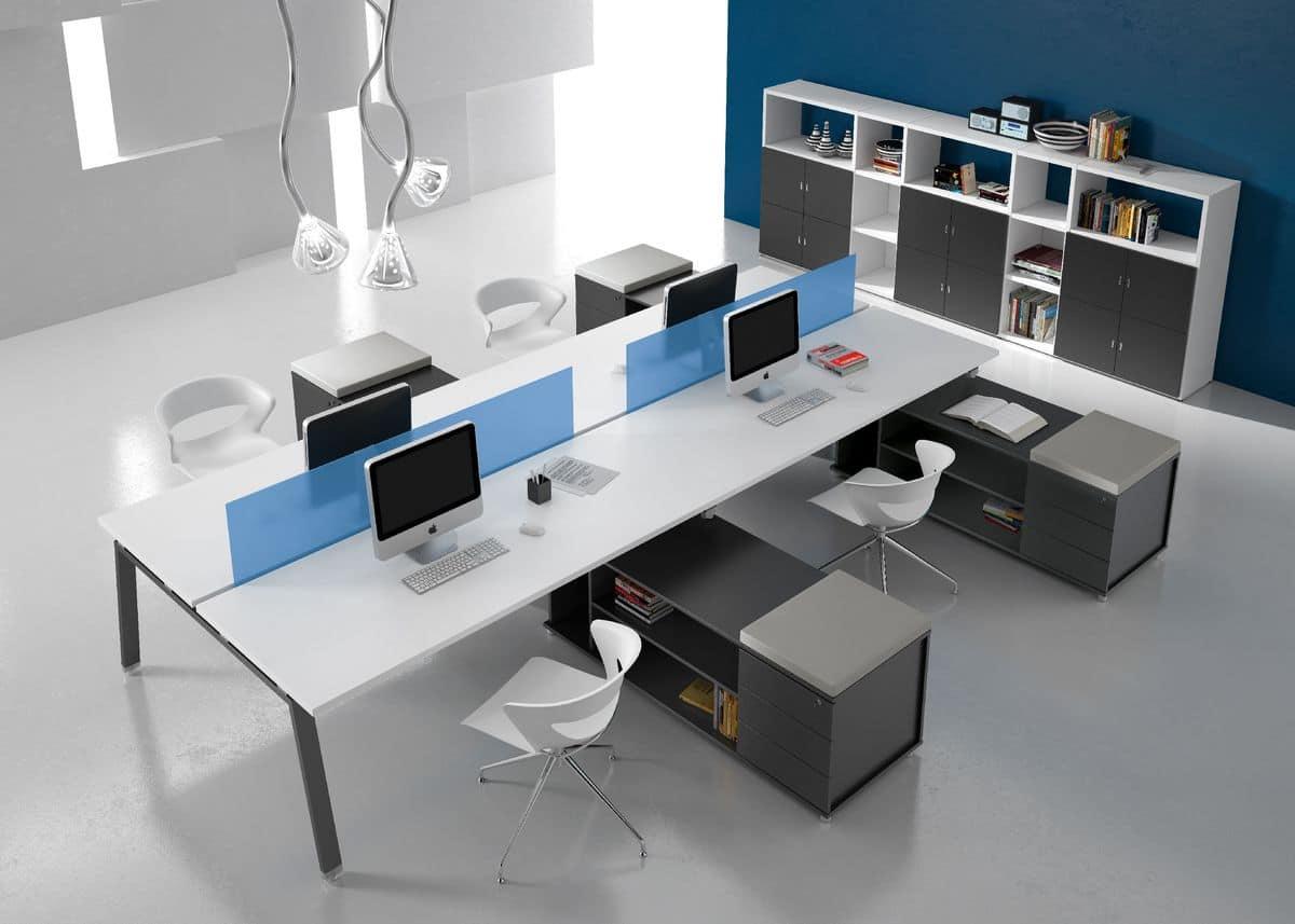 Postazioni operative per ufficio e call center idfdesign - Mobili da ufficio ikea ...
