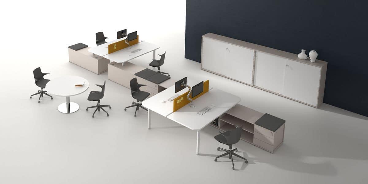Postazioni operative modulari ideale per uffici e call for Scrivanie operative ufficio